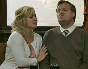 Julie and Brian sing together in Rovers