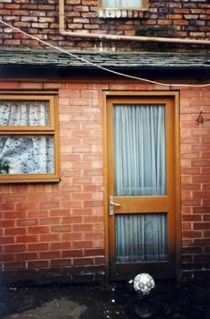 Coronation Street back door, old houses