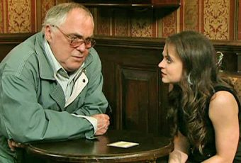 Jack and Molly talk in Rovers