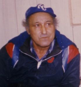 FNI Larry Jeddore in Glenwood band office 1983