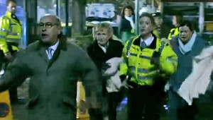 Norris, Emily and Mary running to rescue Rita