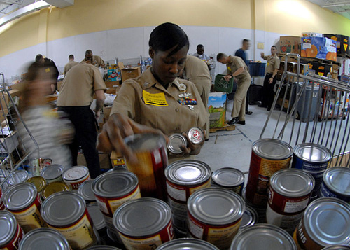US Navy help at food banks - commons.wikimedia.org