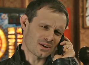 Nick on phone saying sorry can't help to Peter