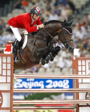 Hickstead jumping at 2008 Olympics - horse superstar