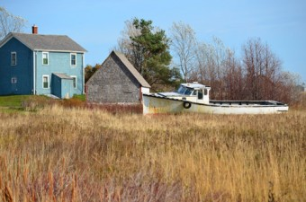 house, barn and boat, west coast PEI