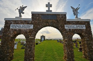 arch at graveyard entrance photo Jim Stewart