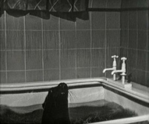 Seals in Walkers' bathtub 1962 Coronation Street