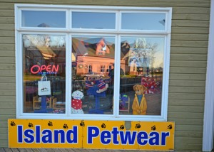 Island Petwear sign, Gateway Village PEI, animals clothing and supplies
