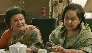 Sunita's aunties find out Dev's losses