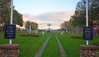 Cemetery gates, Miscouche beside Museum