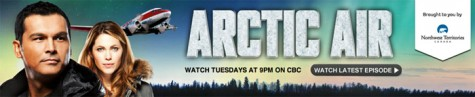 Arctic Air banner cbc website - tourist board tv