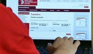 Sophie transferring funds online