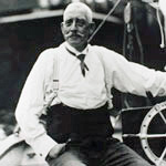 Howard Blackburn in later life sailing
