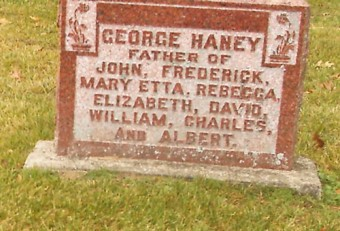 Dr. Haney's gravestone, Jackson Cemetery