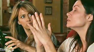 Maria glaring after Carla yells at Liam