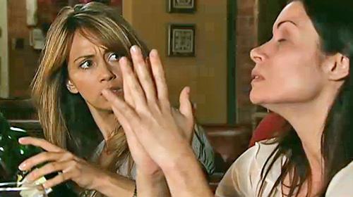 Maria glaring after Carla yells at Liam