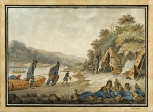 Painting Mi'kmaq Encampment