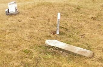 Nancy Mabee Ostrander's grave, Jackson Cemetery