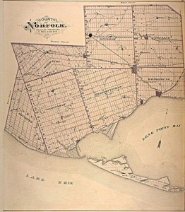 Norfolk County map 1877