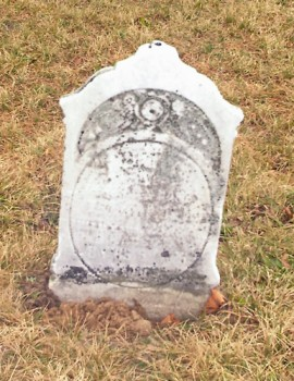 Gravestone of Nancy Mabee James Ostrander child