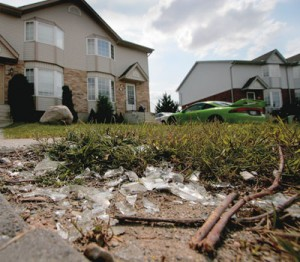 Fleming Drive house after 2007 party damage
