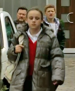 Faye walks away while Owen and Ches watch