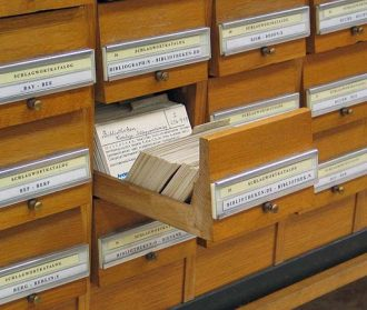 library card catalogue photo by Dr. Marcus Gossler (Wikicommons)