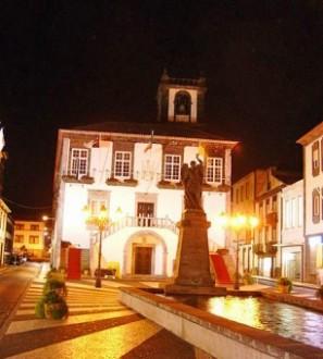 City Hall at night, Ponta Delgada