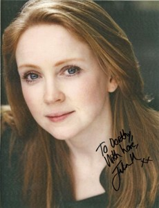 autographed programme photo Julia Haworth