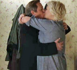 Paul kisses Eileen goodbye in the morning