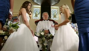 Sian saying her vows to Sophie