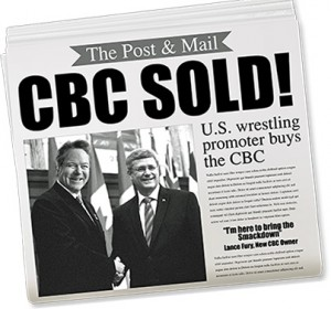 CBC sold mock newspaper headline