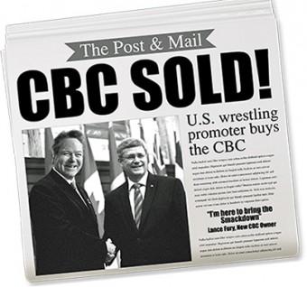 CBC sold mock newspaper headline