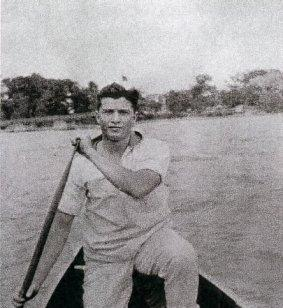 Quigg Baxter rowing