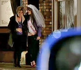 Tracy and Deirdre leaving Rovers