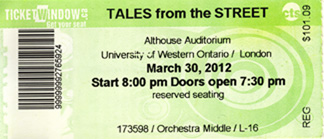 Tales from the Street VIP ticket