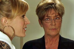 Deirdre keeping quiet while Becky begs for truth - apple and tree