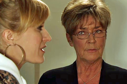 Deirdre keeping quiet while Becky begs for truth