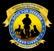 Dogs for Defense Save Lives logo