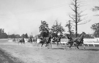 Harness racing at Western Fair track London Ontario ca 1934
