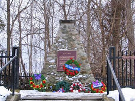 Battle of Longwood cairn near Delaware Ontario