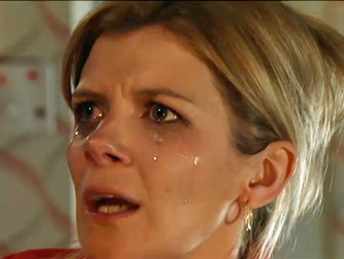 Leanne crying and furious