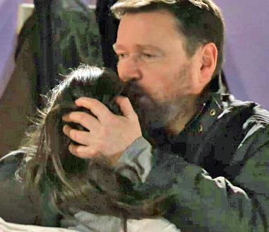 Owen hugging Katie goodnight