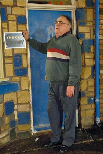 Jack Duckworth outside front door