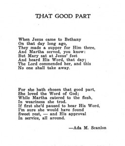 Poem by Ada May (Burwell) Scanlon