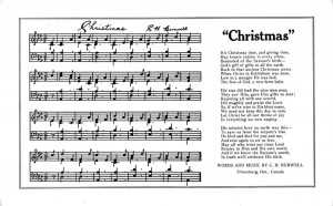 Christmas Song by Charles H Burwell