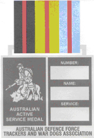 design of ADFTWDA service medal