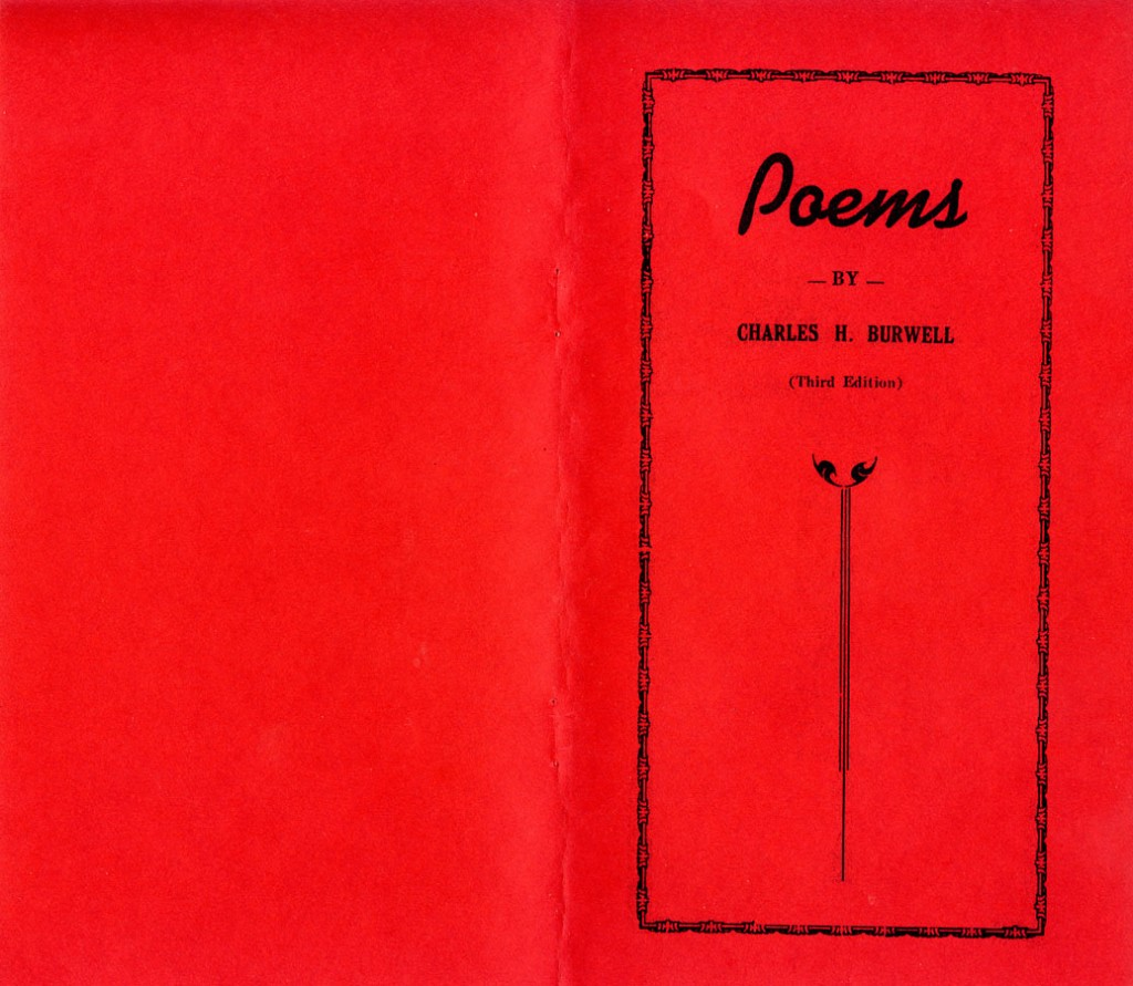 Poetry book cover 3rd ed Charles Hercules Burwell Poems