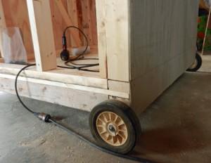 wheels at end of coop