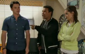 Lloyd, Ryan and Kylie in cab office